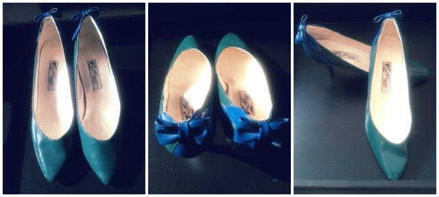 Vintage green and blue shoes