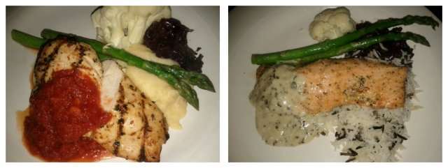 Chicken and Salmon Entrees