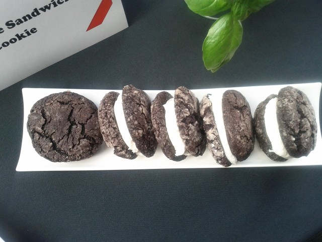 Molly's Eats Chocolate Cookie Sandwich