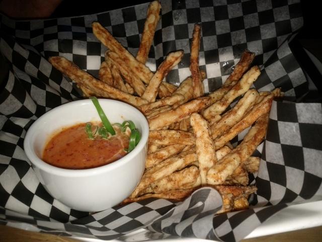 Yam Fries with Truffle Oil and Gochugaru Aioli
