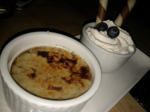 Black Sesame Crème Brulée with Chantilly Cream