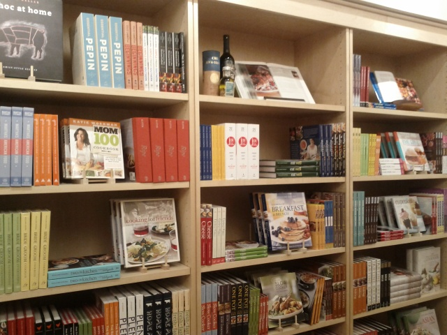 Cook book section at Williams-Sonoma