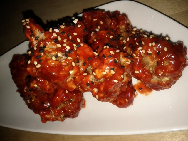 KFC : Korean Fried Chicken Wings with Gochujang