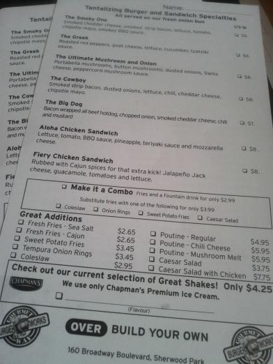 BurgerWorks Signature Burgers