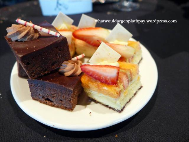 Chocolate Brownies and Strawberry Cakes