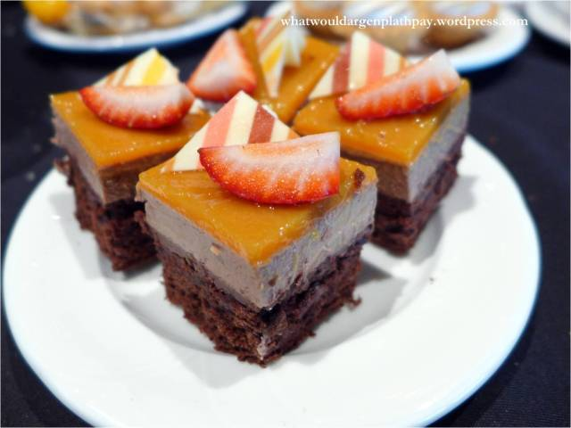 Chocolate Cake with Coffee Cream and Orange