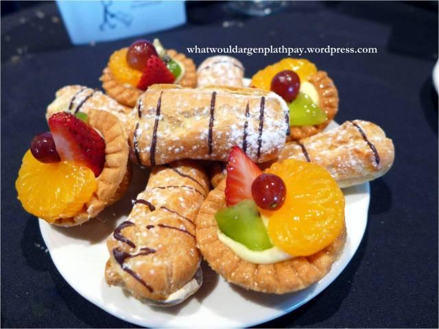 Coffee Cream Eclairs and Mini Fruit Tarts