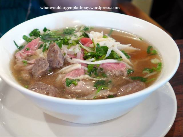 Number 29: Steak, Tripe and Beef Balls Pho with Cilantro