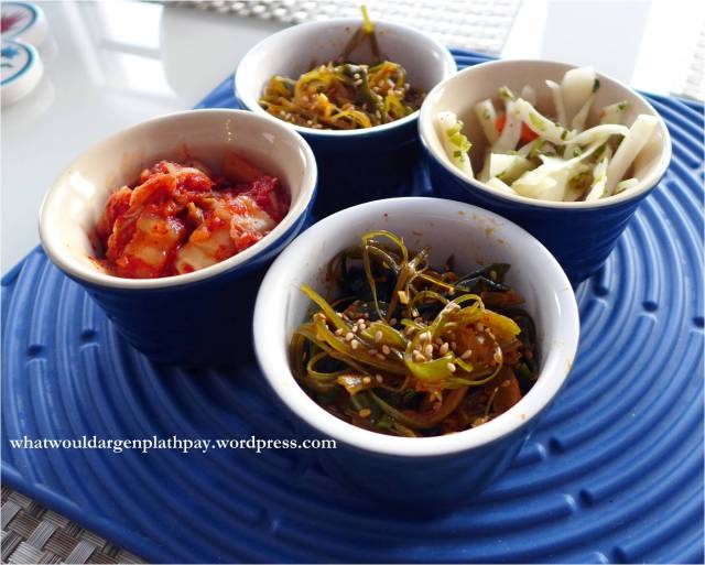 Banchan of Kimchi and Assorted Pickled Veggies