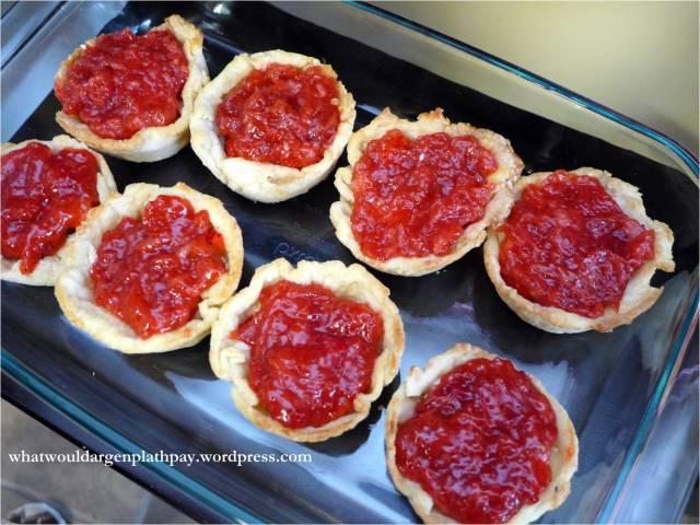 Strawberry cream cheese tarts