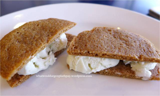 Ginger Lemongrass Ice Cream Sandwich