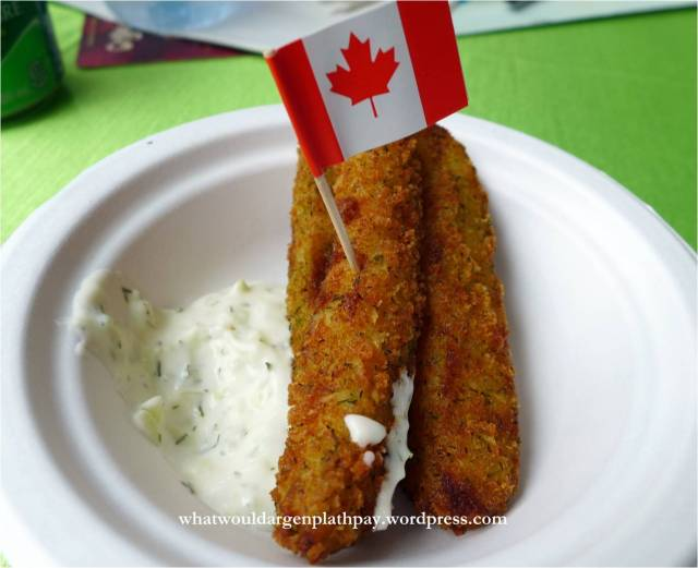 The Canadian Brewhouse - Deep Fried Pickles with Tzatziki