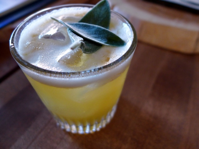 Four Thieves: Four Roses single barrel bourbon, sage infused simple syrup, fresh lemons and egg whites