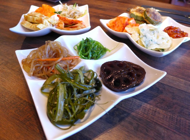 Banchan Plates! This is only a small selection of all the banchan available