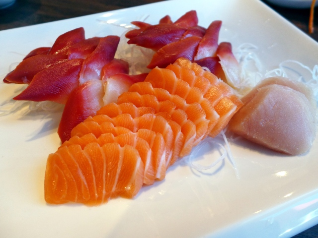 Sashimi: Salmon, Surf Clam and Tuna