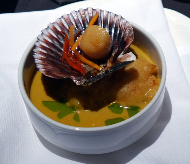 Five Onion Bisque with a Seared Scallop from Executive Royal Hotel