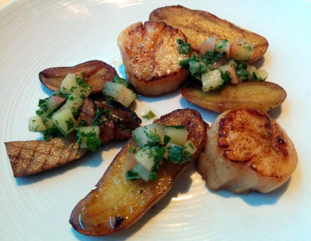 Seared Scallops - King Oyster Mushroom, Apple Gremolata, Duck Fat Potatoes