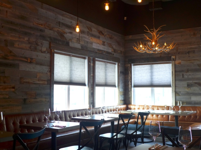Love the Cured Wine Bar space - especially the antler chandelier