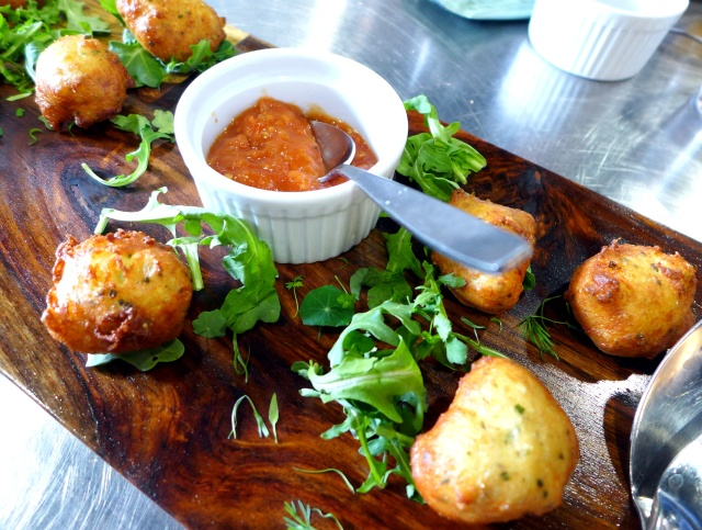 Ricotta Fritters with a Tomato and Orange Sauce