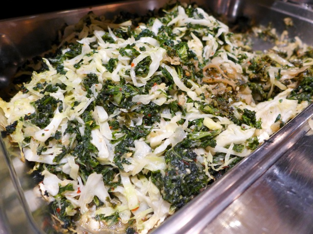 Braised Kale and Cabbage