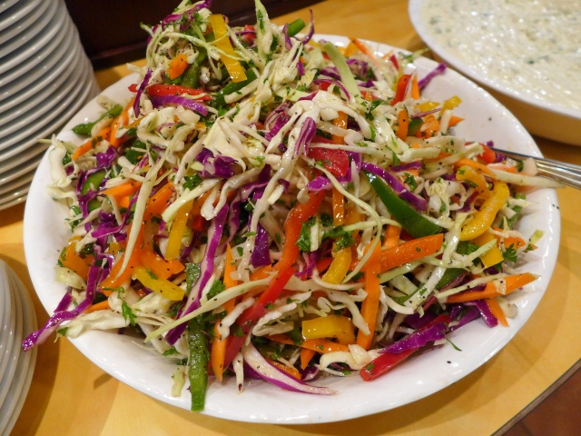 A beautiful and colourful salad!