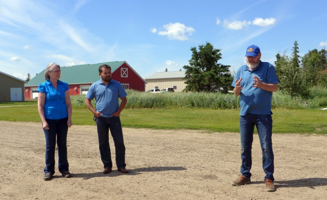 Sheila, Isaac and Ron as they give us a quick intro to Sunworks Farm and what they're all about