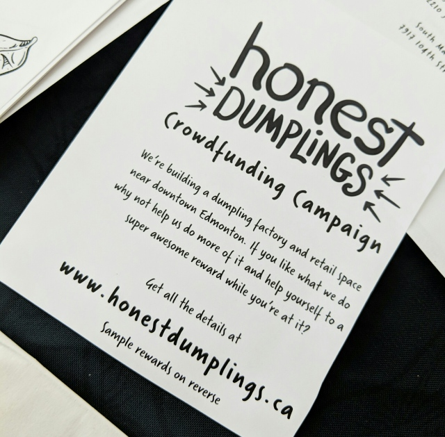 Honest Dumplings Crowdfunding Campaign